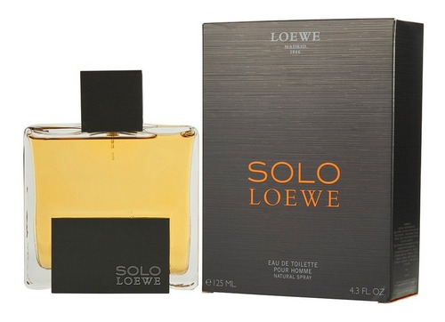 loción perfume solo loewe 125ml hombre original garantizada