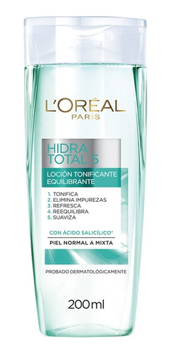 loción tonificante piel normal-mixta loréal paris