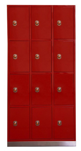 locker 12 puertas rojo poco uso