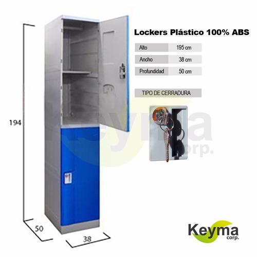 locker casillero plastico abs   2 puertas   nuevo