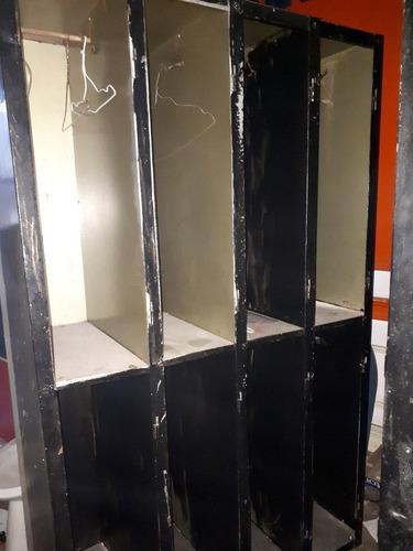 locker de chapa - 8 puertas - para pintar - buen estado