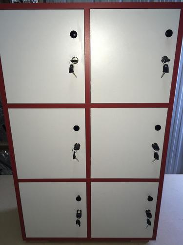 locker de madera 9 puertas / guardabolsos