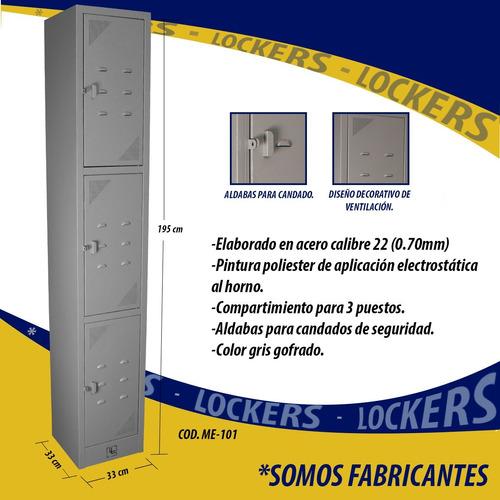 locker metalico - 3 compartimientos