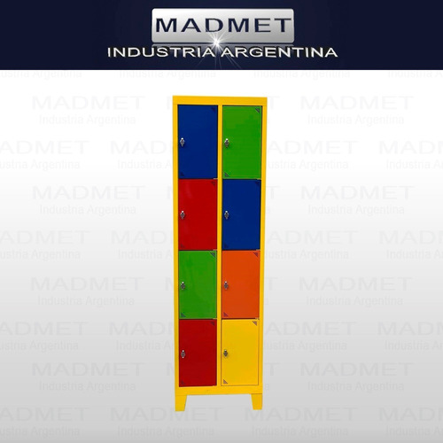 locker metalico 8 ptas pronta entrega-zonas gratis-52cm prof