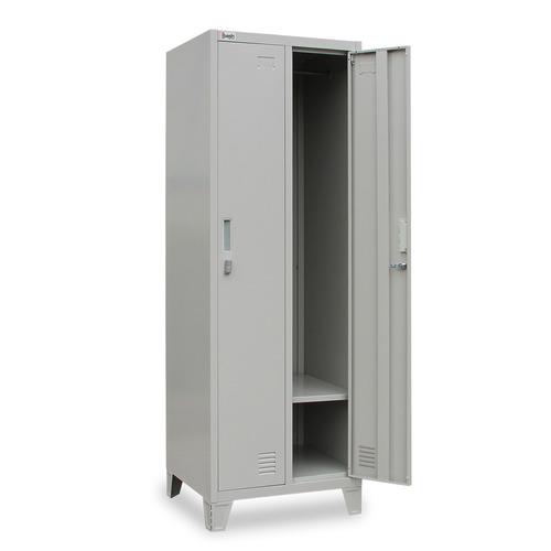 locker metálico armable 2 cuerpos 2 puertas enteras