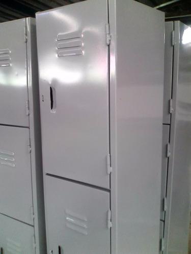 lockers (casilleros) de 2, 3, 4 puertas, estantes