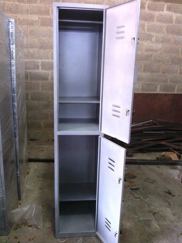 lockers metálicos de 3 y 4 casilleros