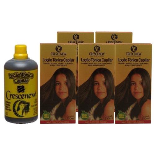 loção tônico anti-queda tratamento cabelo - 5 unidades
