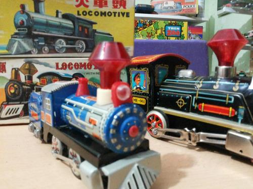 locomotora de chapa a friccion