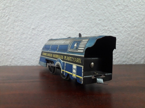 locomotora de metal antigua