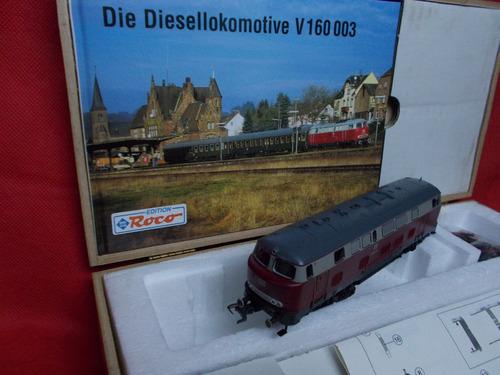 locomotora roco diesel en estuche de madera ho