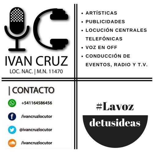 locutor artisticas grabación spot voz en off eventos