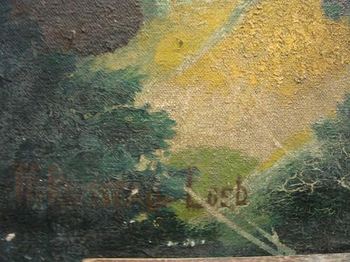 loeb / paisaje castillo medieval / oleo / 46 x 66 # 1663