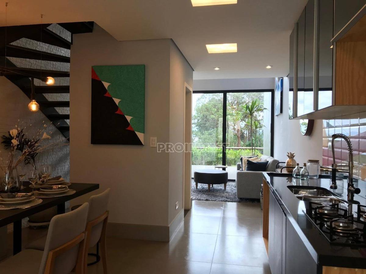 loft com 2 suítes à venda, 123m² por r$ 680.000 - granja viana - cotia/sp - lf0080