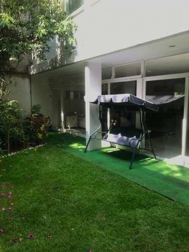 loft de una recamara con jardin privado en polanco