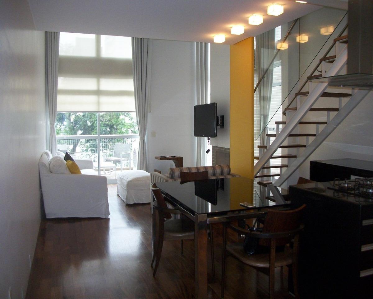 loft duplex - mobiliado - 1 suite c/ closet, 2 vagas - lazer - 86m² - l090 - 2809276