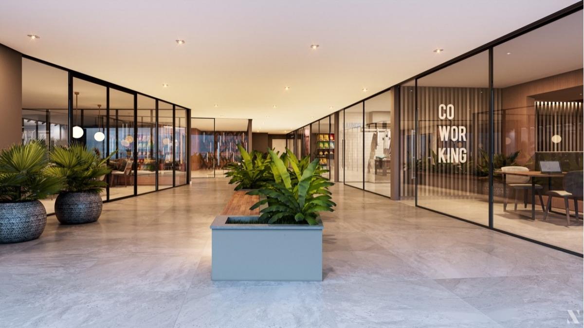 loft duplex,  no centro da cidade de blumenau, com uma suite, sala, cozinha, lavabo, lavação,  1 vaga de garagem, com opção de compra da 2º vaga.o spot 148 possui 2 salões de festas, uma brinquedotec