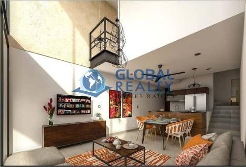 loft en venta en privada, temozón zona cabo norte. dv-4985