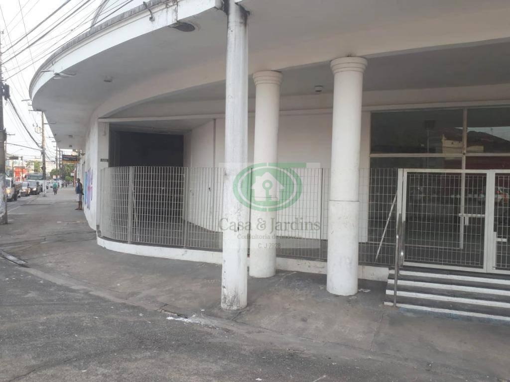 loga / galpão c/ estacionamento p/ 30 carros - vila matias - santos - lo0090