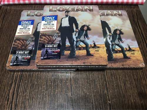 logan steelbook  blu ray + dvd best buy   somos 3-d mania