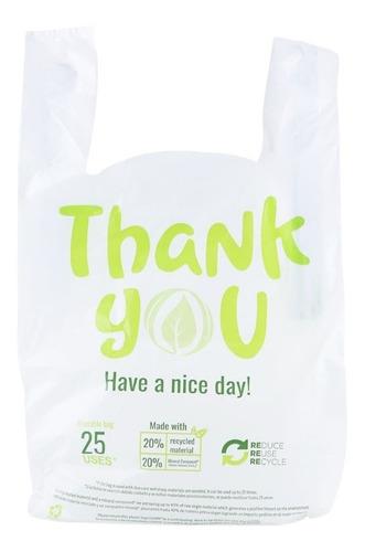 logar bolsa camiseta reutilizable 25 veces 250 pzs