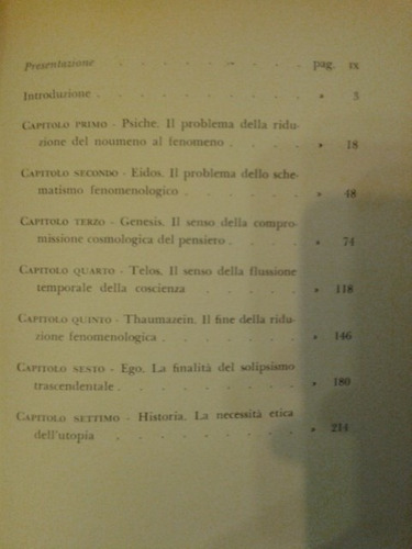 lógica e esperienza in husserl. enzo melandri. en  italiano