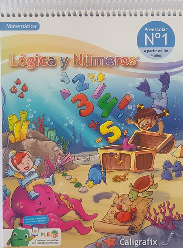 logica y numeros 1 pre-kinder matematica preescolar cx