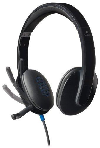 logitech alto -performance usb auriculares h540 para ventana