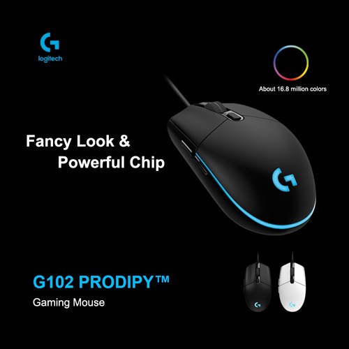 logitech g102 wired gaming mouse rgb ratos ótico 8000dpi