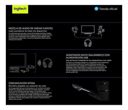 logitech g933 artemis spectrum diadema gamer rgb inalámbrica