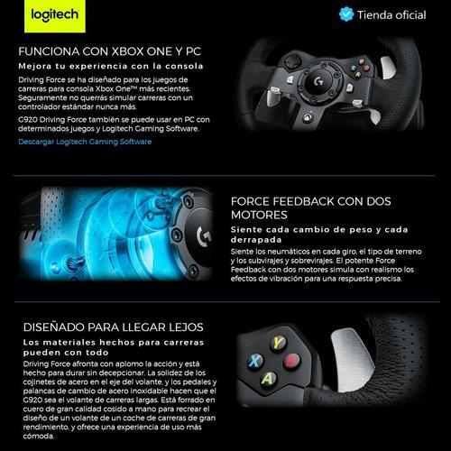 logitech gaming: volante de carreras g920 + joystick f310