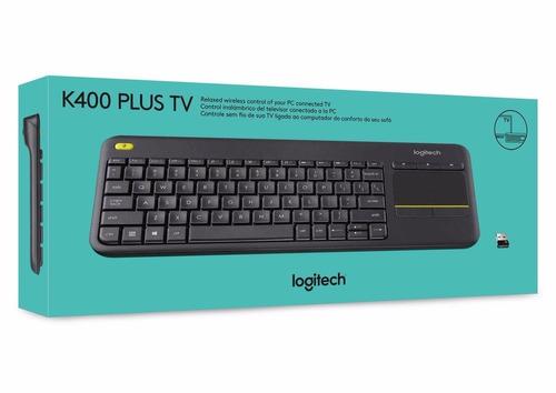 logitech k400 plus unifying touchpad ç sem fio smart tv