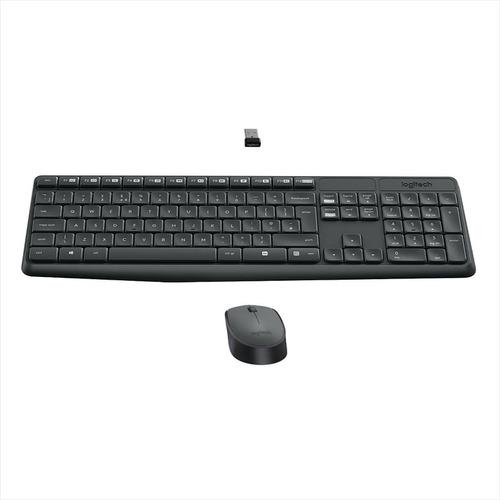 logitech mk235, combo inalámbrico teclado multimedia y mouse