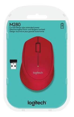logitech mouse m280 wireless mouse red