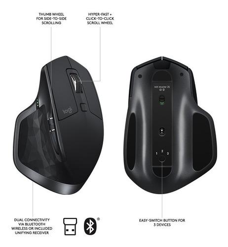 logitech mx master 2s ratón inalámbrico con control de fl