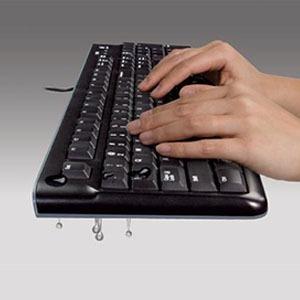 logitech teclado logitech + mouse mk120 usb sp black