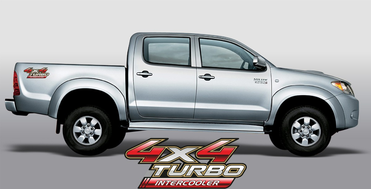 logo adhesivos toyota hilux 4x4 turbo intercooler ford 450 00 en mercado libre. Black Bedroom Furniture Sets. Home Design Ideas