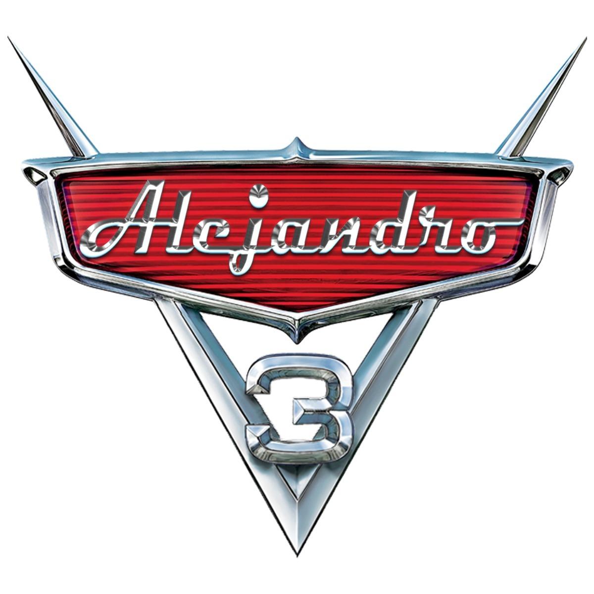 Logo De Cars Personalizado Nombre Del Niño El Mejor 100