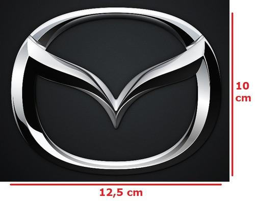 logo emblema insignia mazda 12,5 x 10 cms nuevos sellados