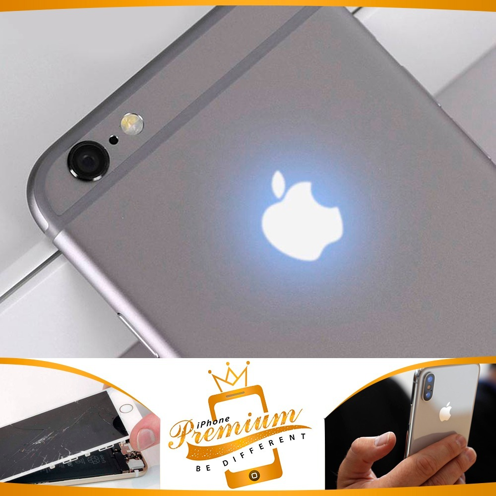 huge discount 1401b 01172 Logo Led Iluminado Apple iPhone 6s 4.7 Branco + Tutorial