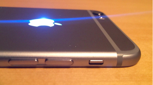 logo luminoso de led para iphone 6 plus blanco rosa y azul