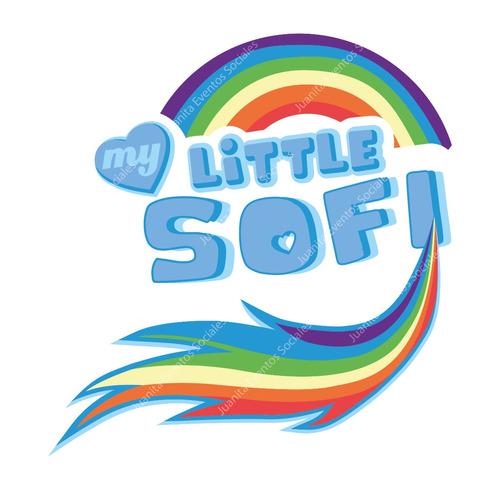 logo personalizado my little pony rainbow dash candy bar