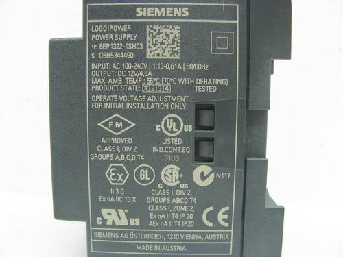 logo power siemens 12vdc | 4.5amp