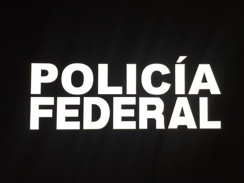 logo vinil reflejante ,policia federal,municipal,bombero etc