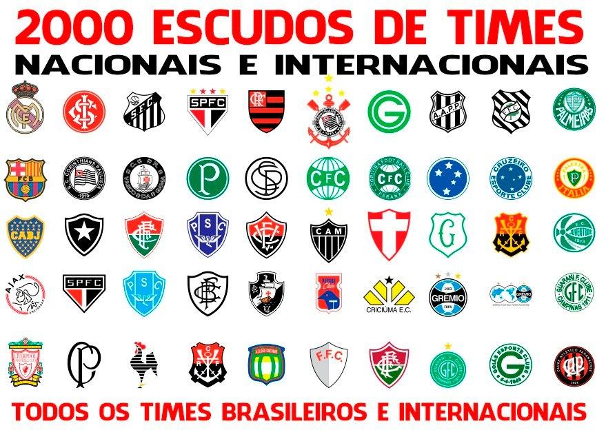 Logos Brasões E Escudos De Times De Futebol + Brindes - R  12 24a795285ce87