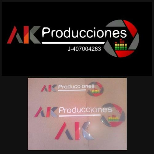 logos corporativos y figuras en mdf