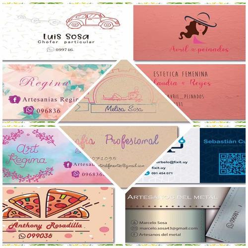 logos, tarjetas, folletos y más. diseños personalizados