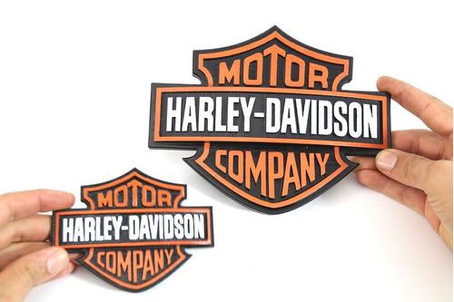 logotipo harley davidson impressão 3d - 12 cm