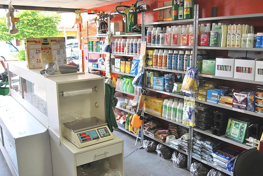 loja comercial pet shop e produtos para o controle de pragas