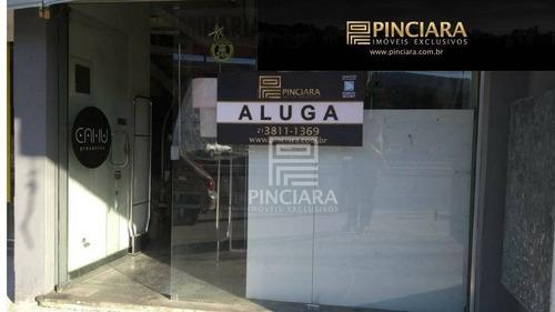 loja comercial venda/locação, 105 m² por r$ 600.000 - itaipu - niterói/rj - lo0031